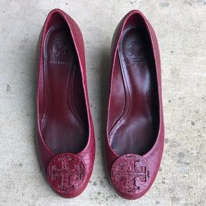 Red Tory Burch Wedges